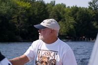 Dad again enjoying a day on the boat