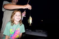 Laina and one of three fish she caught