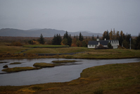 a view of Þingvellir, where Iceland's parliament was established in 930 A.D.