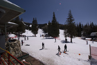 the view from the deck at Ski Santa Fe (12,500 feet up in the Sangre de Christo Mountains)