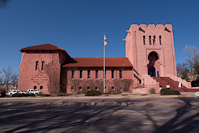 the Scottish Rite Masonic Center.  Yes, it *was* that pink in person.