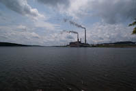 Vepco power plant and the cooling pond, Vepco Lake