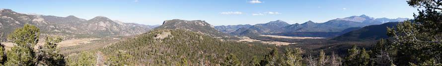 Deer Mountain is the big one in the center of this panorama