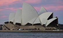 the Opera House at sunset