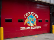 the garage door of the Chinatown FD