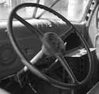 antique truck interior