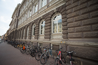 bikes outside of Clavius-Gymnasium