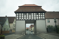 the former town gate in Uehlfeld