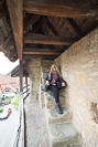 Jamie on the old city wall in Rothenburg ob der Tauber
