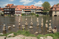 Pleepleus relaxing on some cairns in the Regnitz