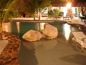 the pool at night at Xanadu