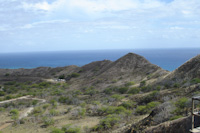 halfway through the climb to the top of Diamond Head