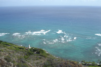 a view from atop Diamond Head