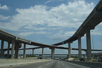 Dallas,driving,clouds,highways,construction