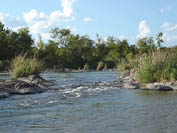 tiny rapids on the Llano