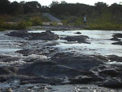some more rapids, and me in the distance